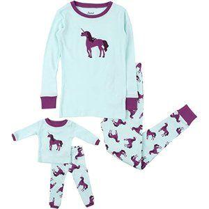 Leveret Kids & Toddler 2T Unicorn Matching Pajamas